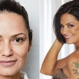 A maquiagem de Luiza Brunet